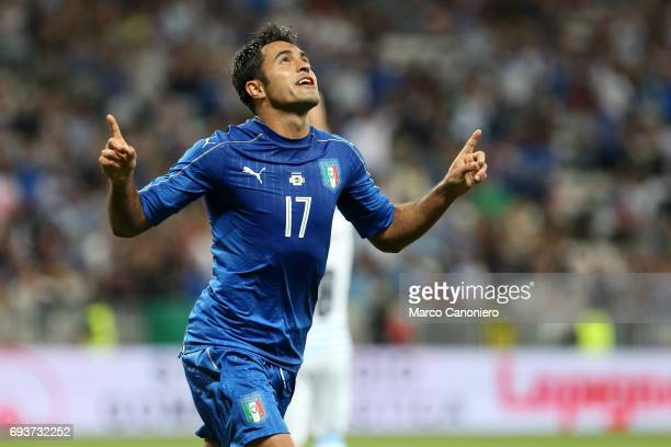 Eder Citadin Martins of Italy celebrate after scoring a goal during the international friendly match between Italy and Uruguay Italy wins 30 over...