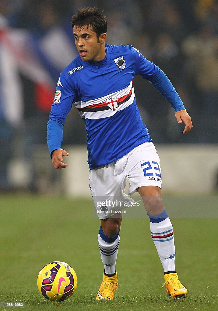Eder Citadin Martins of UC Sampdoria in action during the Serie A match between UC Sampdoria and AC Milan at Stadio Luigi Ferraris on November 8 2014...