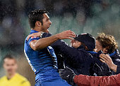 Eder of Italy celebrates after scoring the second goal during the Euro 2016 Qualifier match between Bulgaria and Italy at Vasil Levski National...