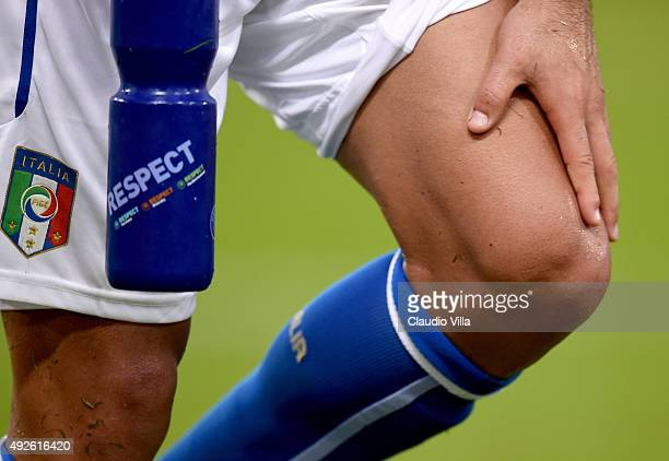 Eder of Italy injured during the UEFA EURO 2016 Qualifier between Italy and Norway at Olimpico Stadium on October 13 2015 in Rome Italy