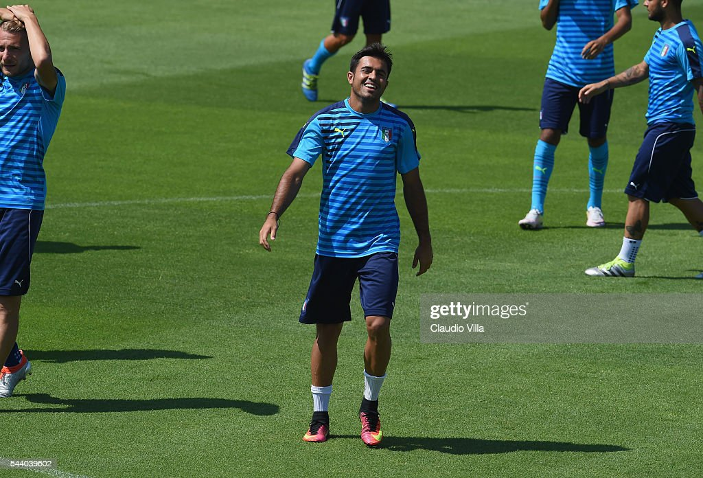 Eder of Italy looks on during the training session at 'Bernard Gasset' Training Center on July 01, 2016 in Montpellier, France.