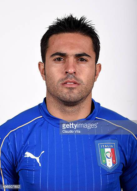 Eder of Italy poses during the official portrait session at Coverciano on November 10 2015 in Florence Italy