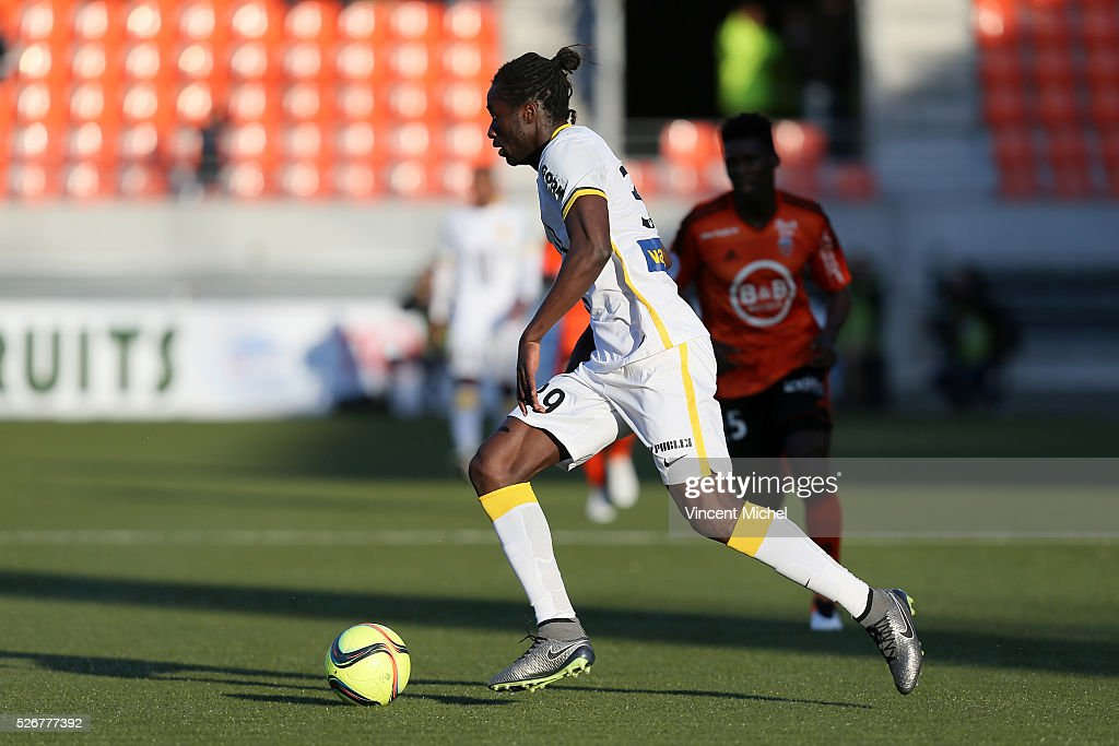 Eder of Lille during the French Ligue 1 match between Fc Lorient and Lille OSC at Stade du Moustoir on April 30 2016 in Lorient France