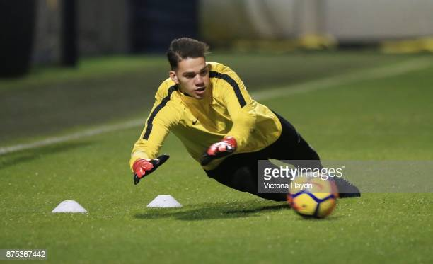 Ederson Moraes at Manchester City Football Academy on November 17 2017 in Manchester England