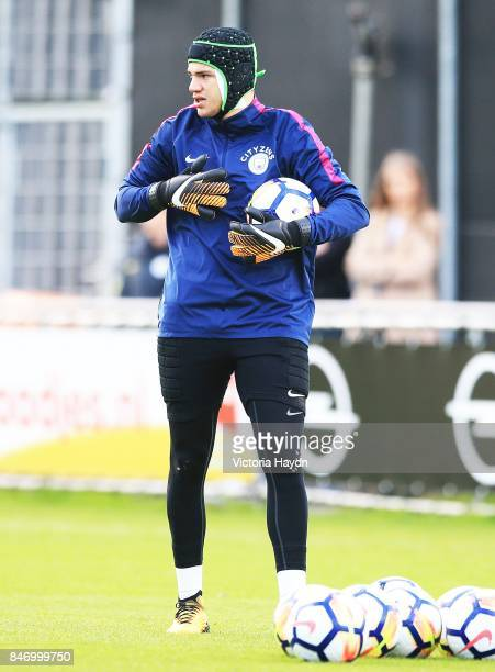 Ederson Moraes during training at Sportcomplex Varkenoord on September 14 2017 in Rotterdam Netherlands