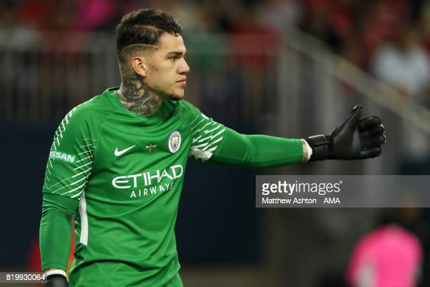 Ederson of Manchester City during the International Champions Cup 2017 match between Manchester United and Manchester City at NRG Stadium on July 20...