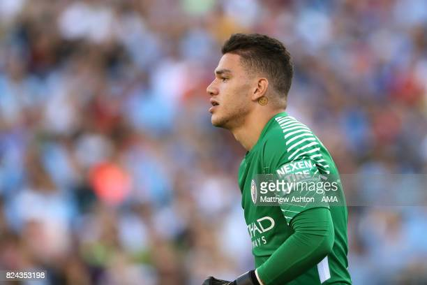 Ederson of Manchester City during the International Champions Cup 2017 match between Manchester City and Tottenham Hotspur at Nissan Stadium on July...