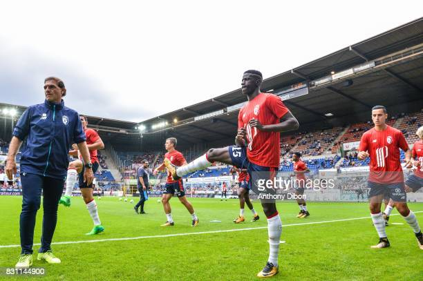 Edga Ie of Lille during the Ligue 1 match between Racing Club Strasbourg and Lille OSC at Stade de la Meinau on August 13 2017 in Strasbourg