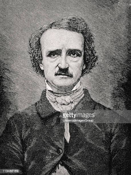 Edgar Allan Poe 1809 to 1849 American author editor and critic from 19th century print