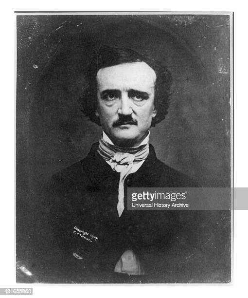 Edgar Allan Poe 18091849 American author of horror and thriller stories c1904