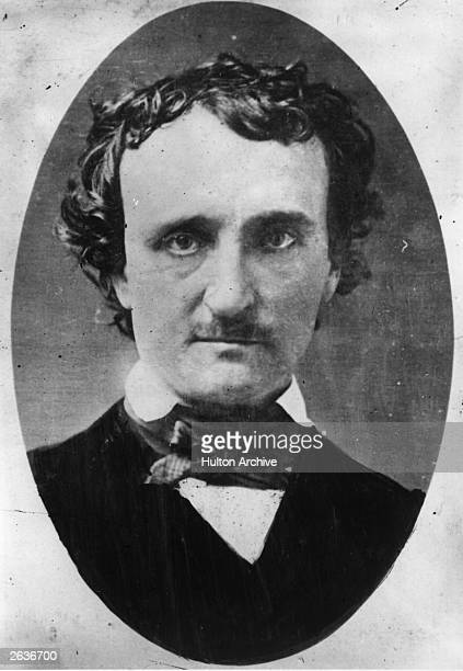 Edgar Allan Poe the novelist and poet from a daguerreotype taken in Lowell Massachusetts