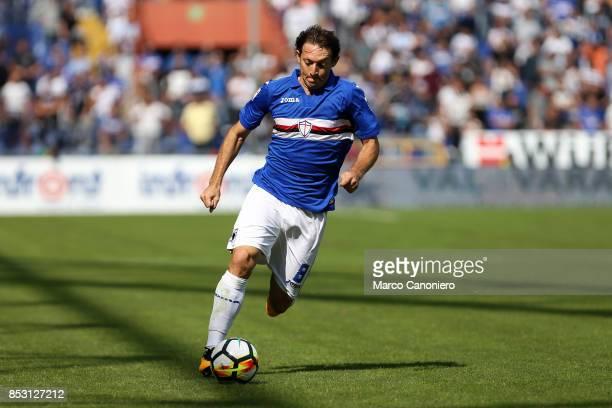 Edgar Barreto of UC Sampdoria in action during the Serie A football match between Us Sampdoria and Ac Milan Uc Sampdoria wins 20 over Ac Milan