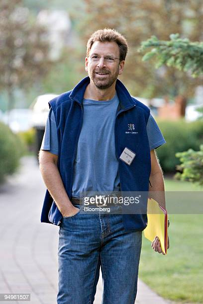 Edgar Bronfman chairman and chief executive officer of Warner Music Group Corp arrives for a session during the Allen Co Media and Technology...