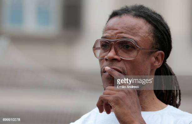 Edgar Davids attends a football clinic for integration organized by Italian Football Federation on June 22 2017 in Milan Italy