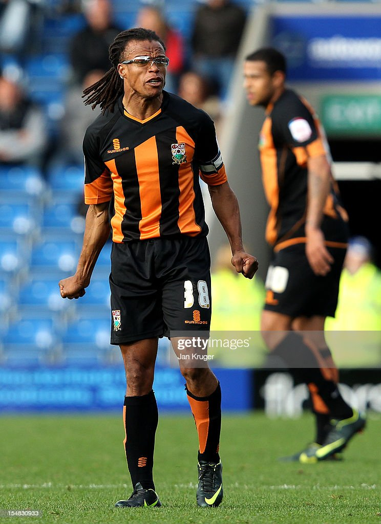 Edgar Davids of Barnet FC in action uring the npower League Two match between Chesterfield and Barnet at Proact Stadium on October 27 2012 in...