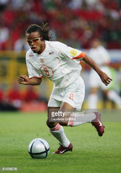 Edgar Davids of Holland in action during the UEFA Euro 2004 Semi Final match between Portugal and Holland at the Jose Alvalade Stadium on June 30...