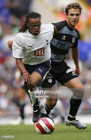 Edgar Davids of Tottenham Hotspur in action during a Pre Season Friendly Match between Tottenham Hotspur and Real Sociedad at White Hart Lane on...