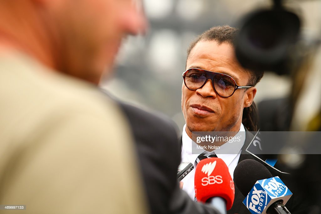 <a gi-track='captionPersonalityLinkClicked' href=/galleries/search?phrase=Edgar+Davids&family=editorial&specificpeople=213130 ng-click='$event.stopPropagation()'>Edgar Davids</a> speaks to the press during a media opportunity ahead of the A-League All-Stars v Juventus FC match, at Sydney Opera House on February 18, 2014 in Sydney, Australia.