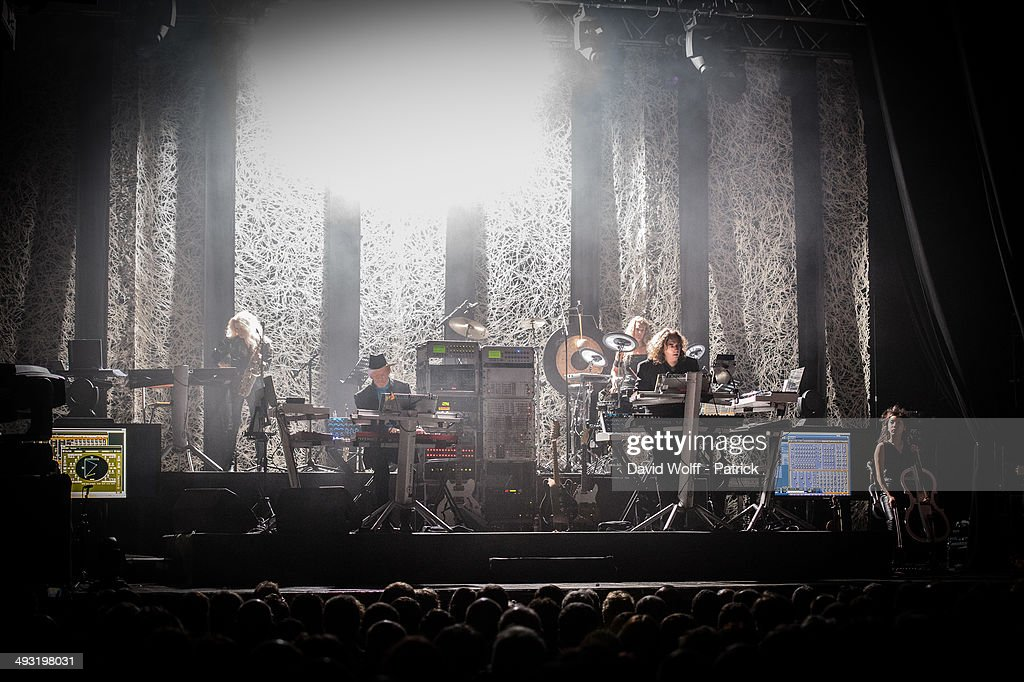 Edgar Froese and Thorsten Quaeschning from Tangerine Dream perform at Le Trianon on May 22, 2014 in Paris, France.