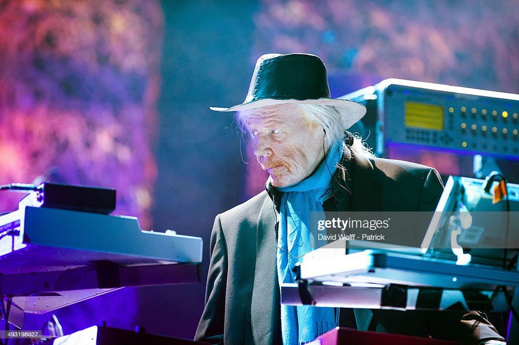 Edgar Froese from Tangerine Dream performs at Le Trianon on May 22, 2014 in Paris, France.