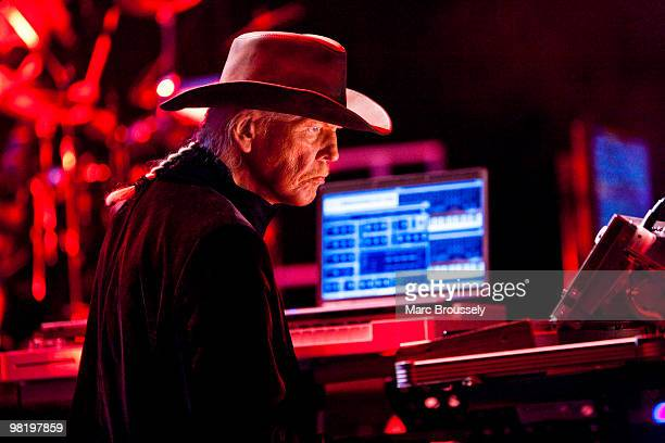 Edgar Froese of Tangerine Dream performs on stage at the Royal Albert Hall on April 1 2010 in London England