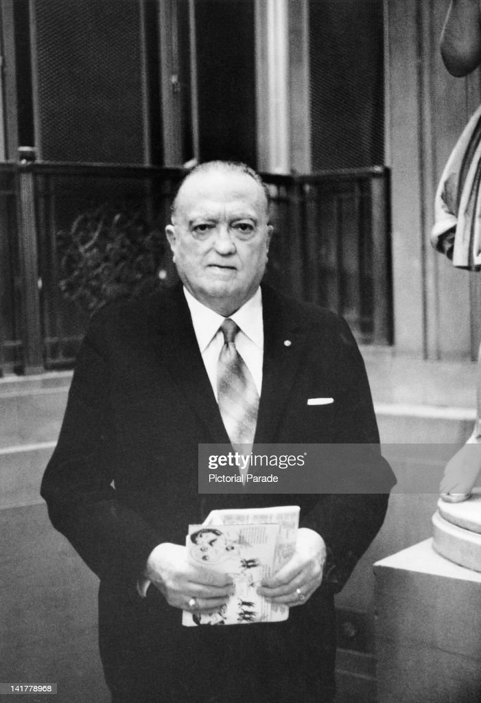 J Edgar Hoover Director of the Federal Bureau of Investigation at the annual Banshee Luncheon of the American Newspaper Publishers Association at the...
