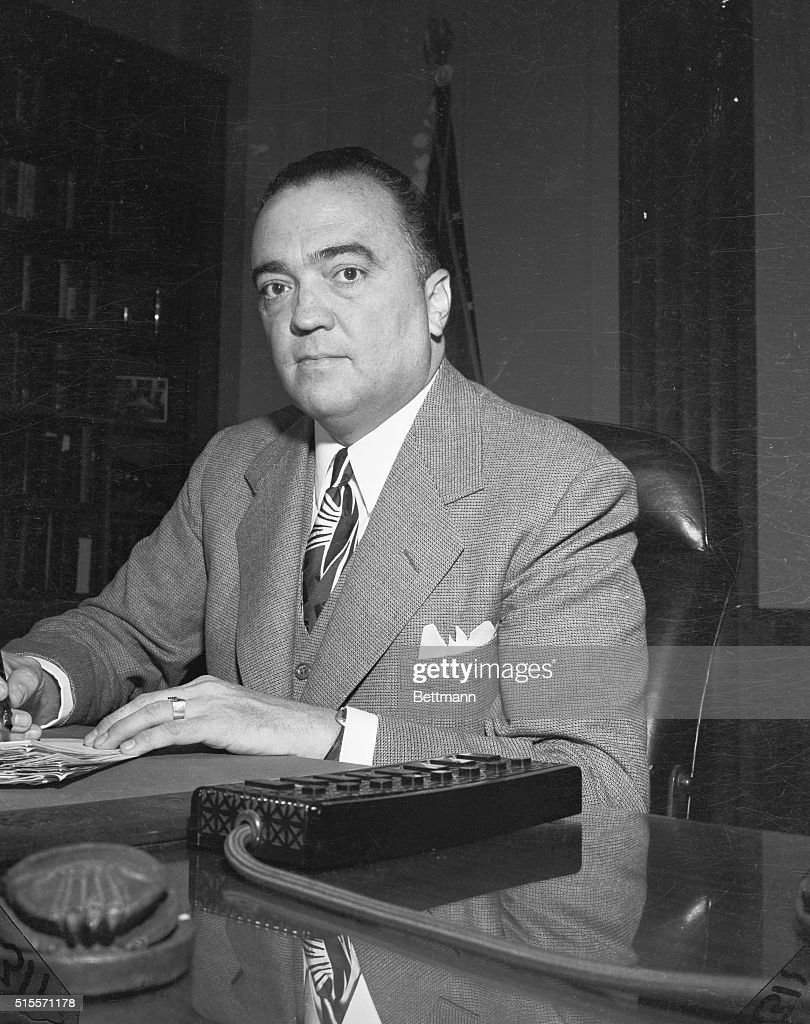 <a gi-track='captionPersonalityLinkClicked' href=/galleries/search?phrase=J.+Edgar+Hoover&family=editorial&specificpeople=93559 ng-click='$event.stopPropagation()'>J. Edgar Hoover</a>, Director of the Federal Bureau of Investigation, has been stricken with bronchial pneumonia and his condition is considered 'serious', September 16. Top G-man is 53, has been ill for a week. File photo.
