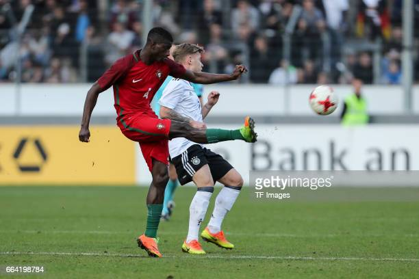 Edgar Le of Portugal und Max Meyer of Germany battle for the ball during the International Friendly match between Germany U21 and Portugal U21 at...