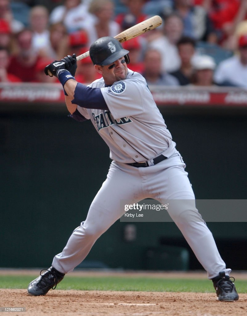 Edgar Martinez of the Seattle Mariners The Mariners defeated the Angels 76