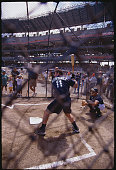 Edgar Martinez Taking Batting Practice