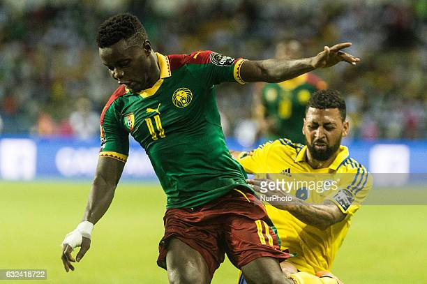 Edgar Nicaise Salli and Lloyd Palun at African Cup of Nations 2017 between Cameroon and Gabon at Libreville Gabon on 22/1/2017