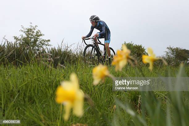Edgar Nohales of Spain competes in the time trial round Winton during stage 6 of the Tour of Southland on November 7 2015 in Invercargill New Zealand
