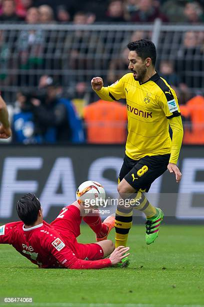 Edgar PRIB of Hannover 96 and Ilkay Guendogan of Bosussia Dortmund battle for the ball during the Bundesliga match between Borussia Dortmund and...