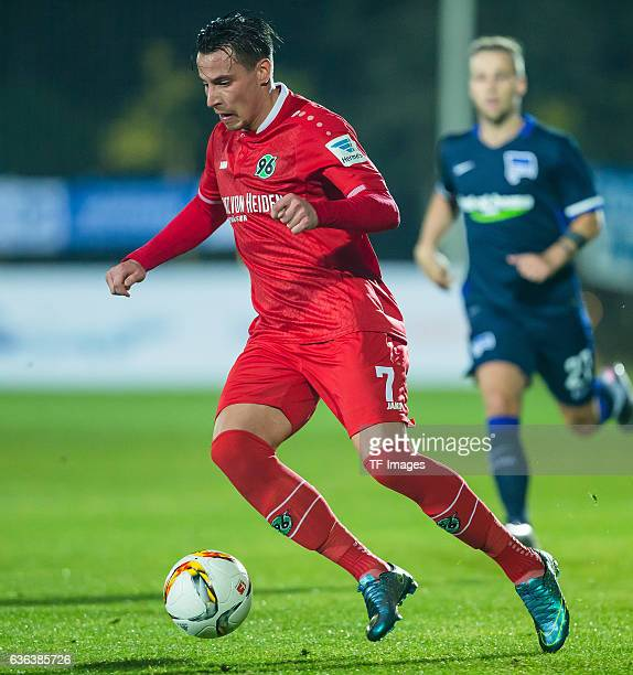 Edgar Prib of Hannover 96 in action during the Friendly Match between Hannover 96 and Hertha BSC at Cornelia Sports Center on January 11 2016 in...