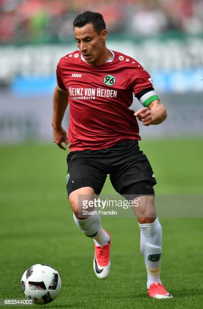 Edgar Prib of Hannover in action during the Second Bundesliga match between Hannover 96 and VfB Stuttgart at HDIArena on May 14 2017 in Hanover...