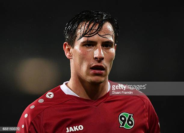 Edgar Prib of Hannover looks on during the Second Bundesliga match between Hannover 96 and 1 FC Kaiserslautern at HDIArena on January 30 2017 in...