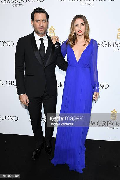 Edgar Ramirez and Ana de Armas attend the De Grisogono Party at the annual 69th Cannes Film Festival at Hotel du CapEdenRoc on May 17 2016 in Cap...