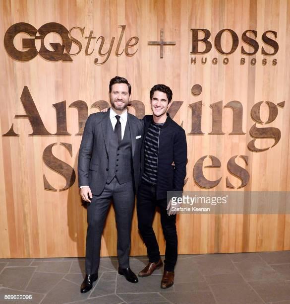 Edgar Ramirez and Darren Criss attend GQ Style Hugo Boss celebrate Amazing Spaces with Edgar Ramirez at John Lautner's Harvey House on November 2...