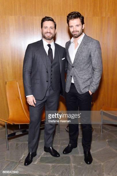 Edgar Ramirez and Sebastian Stan attend GQ Style Hugo Boss celebrate Amazing Spaces with Edgar Ramirez at John Lautner's Harvey House on November 2...