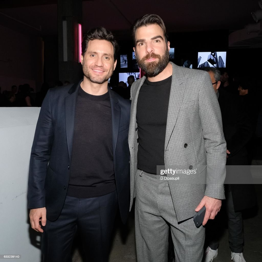 Edgar Ramirez (L) and Zachary Quinto attend the Boss after party during