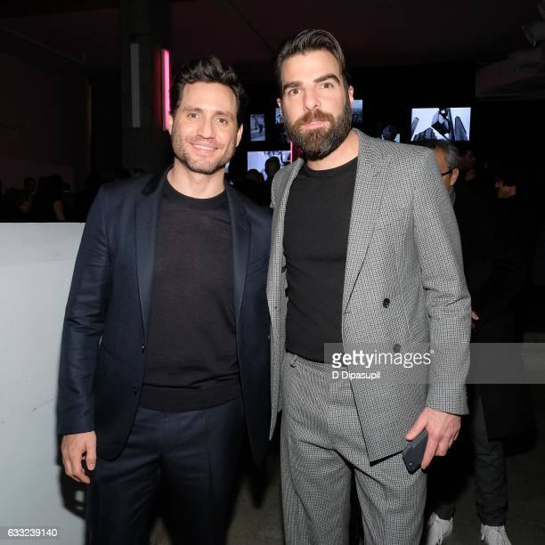 Edgar Ramirez and Zachary Quinto attend the Boss after party during NYFW Men's at Skylight Modern on January 31 2017 in New York City