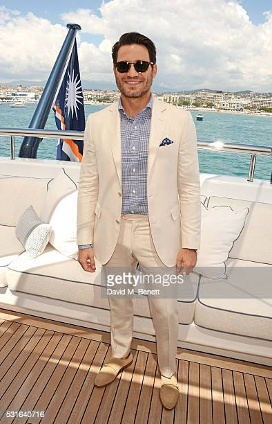 Edgar Ramirez attends a private luncheon hosted by Len Blavatnik and Harvey Weinstein aboard Odessa II on May 15 2016 in Cannes France