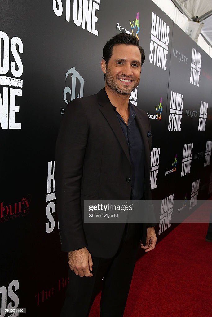Edgar Ramirez attends Hands Of Stone Premiere With DeLeon Tequila at SVA Theater on August 22 2016 in New York City