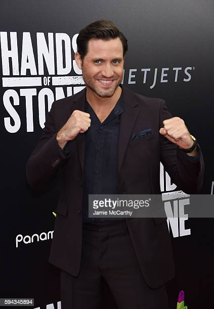 Edgar Ramirez attends the 'Hands Of Stone' US premiere at SVA Theater on August 22 2016 in New York City