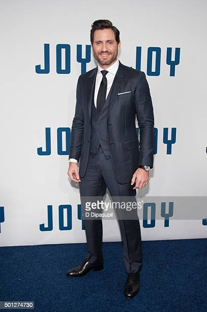Edgar Ramirez attends the 'Joy' New York premiere at the Ziegfeld Theater on December 13 2015 in New York City