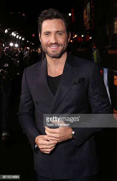 Edgar Ramirez attends the premiere of Warner Bros Pictures and Alcon Entertainment's 'Point Break' at TCL Chinese Theatre on December 15 2015 in...