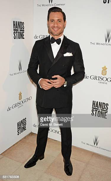Edgar Ramirez attends The Weinstein Company's HANDS OF STONE Cocktail Party presented by de Grisogono at Terrasse by Albane in Cannes on May 16 2016...