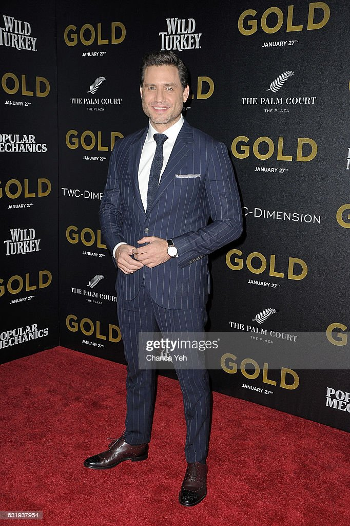 Edgar Ramirez attends the world premiere of 'Gold' hosted by TWC-Dimension at AMC Loews Lincoln Square 13 theater on January 17, 2017 in New York City.