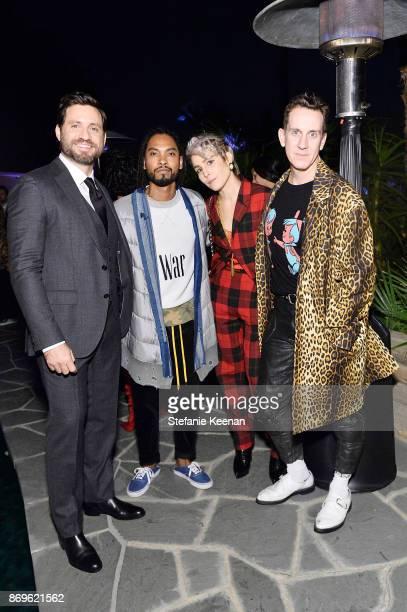 Edgar Ramirez Miguel Noomi Rapace and Jeremy Scott attend GQ Style Hugo Boss celebrate Amazing Spaces with Edgar Ramirez at John Lautner's Harvey...