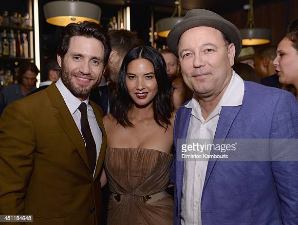 Edgar Ramirez Olivia Munn and Ruben Blades attend the 'Deliver Us From Evil' screening after party hosted by Screen Gems Jerry Bruckheimer Films with...